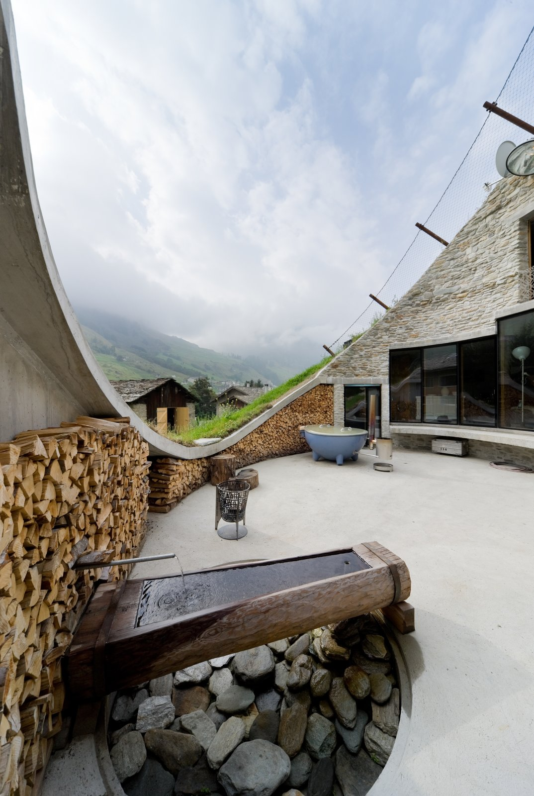 Photo 7 of 13 in Stay in a Swiss Vacation Home That's Literally Inside a Mountain