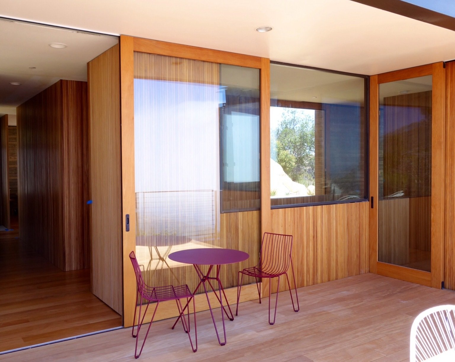 Tagged: Outdoor, Small Patio, Porch, Deck, and Wood Patio, Porch, Deck.  Photo 5 of 13 in Take Your Next Vacation in a Midcentury Home in the Santa Monica Mountains