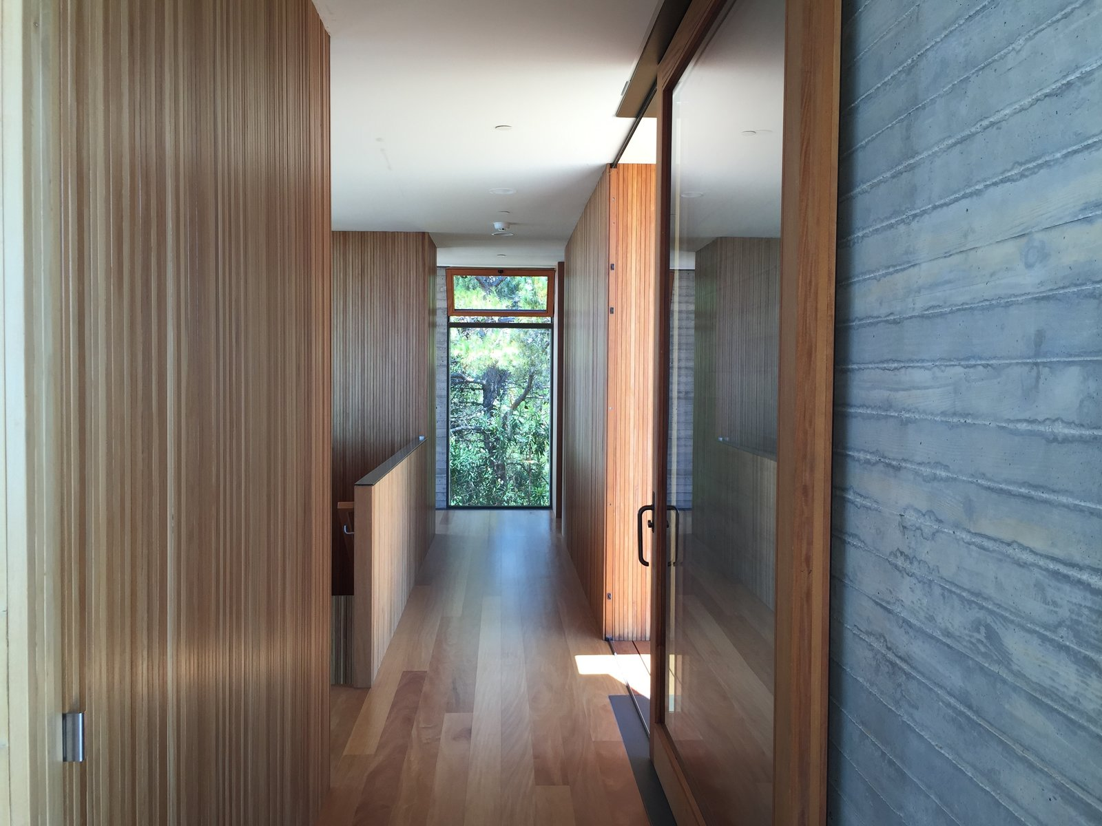 Tagged: Hallway and Medium Hardwood Floor.  Photo 9 of 13 in Take Your Next Vacation in a Midcentury Home in the Santa Monica Mountains