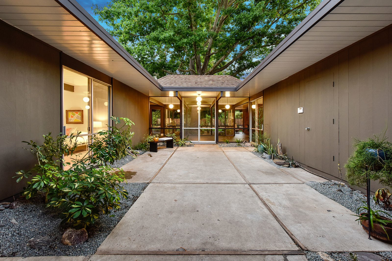 Tagged: Outdoor, Concrete Patio, Porch, Deck, and Pavers Patio, Porch, Deck.  Photo 10 of 15 in An Enormous Bay Area Eichler Asks $1.45M