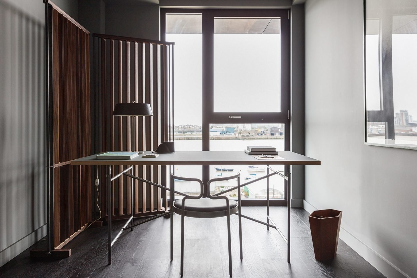 Tagged: Office, Chair, Lamps, Study, Desk, and Dark Hardwood Floor. For Just Under $2 Million, You Could Live in a London Penthouse Outfitted by Cereal Magazine - Photo 9 of 13