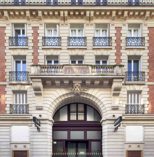Les Bains in Paris' Le Marais district has an epic cultural history—to say the least. In 1885, Les Bains Douches became Paris' first and most popular bathhouse and was known to host Marcel Proust on a regular basis. In 1978, it was turned into a nightclub that became the ultimate scene where every influential star made appearances—from Prince and Mick Jagger to David Bowie, Karl Lagerfeld, and Andy Warhol. After it closed down for five years, it was reopened in 2015 as a 39-room hotel that hosts an Artists' Residency program that's curated by Magda Danysz.