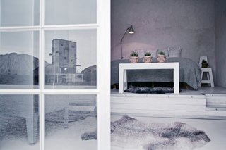 7 Stunning Scandinavian Hotels - Photo 1 of 7 - Located in the northeastern corner of Gotland island in the remote Furillen peninsula, the industrial-chic Fabriken Furillen is set amidst the haunting limestone formations of an old quarry. Designed by Gothenburg photographer Johan Hellström, this eco-friendly hotel has soft, inviting interiors in different shades of gray and white.