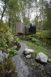 7 Stunning Scandinavian Hotels - Photo 4 of 7 - A celebration of nature in Norway, this rural hotel marries modern architecture with stunning natural landscapes. All of the hotel's seven rooms, which are built into the landscape, are unique and offer views of the valley, river, courtyard, or a dramatic gorge.