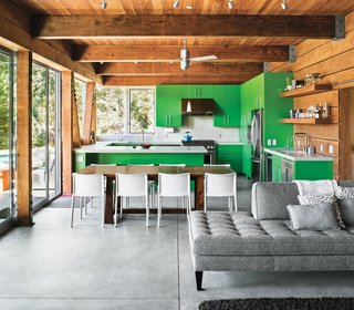 9 Eco-Friendly Homes With Smart, Sustainable Features - Photo 8 of 9 - Architect Michael Cobb used sustainable materials like straw bales and rammed earth in the construction of this weekend home in Healdsburg, California.