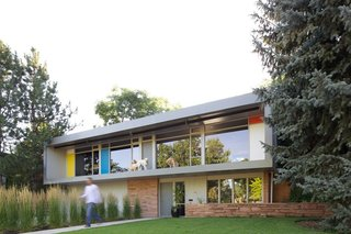 10 Timeless Midcentury-Modern Homes - Photo 4 of 10 - Denver's most recognized midcentury-modern cluster, Arapahoe Acres, is an area known for its Usonian and International Style houses by developer Edward B. Hawkins and architects Eugene Sternberg and Joseph G. The stunning remodel of this particular Edward B. Hawkins house has sliding glass walls that open to amazing outdoor spaces.