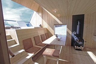 Stay in a Tiny Shingled Cabin in Austria That Resembles a Bird-Like UFO - Photo 8 of 11 -