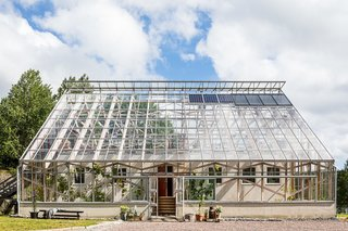 8 Modern Solariums and Sun-Drenched Spaces - Photo 4 of 8 - This wood-framed, glass-enclosed lakeside home in Gothenburg, Sweden, looks like a giant greenhouse from the outside, but is in fact a spacious three-bedroom home.