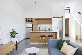 "11 Amazing Australian Homes - Photo 9 of 11 - Referred to locally as ""six-packs,"" these 1960s-style, suburban walk-up apartments in Richmond, Melbourne, were reinterpreted by MUSK Architecture Studio, who transformed them into versatile and space-efficient, one- and two-bedroom units."