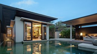 7 Incredible Island Villas in Indonesia - Photo 7 of 7 - If you want to escape the crowds while in Bali, the clean-lined villas at Soori Bali are ideal. Designed by architect Soo K. Chan—founder of SCDA Architects—and his wife Ling Fu, the modern villas pay homage to the local culture with materials like stone from nearby village quarries, and ornaments crafted out of terra-cotta and ceramic by Balinese artisans.
