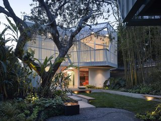 10 Best Modern Homes in Venice Beach, California - Photo 4 of 10 - Besides transforming this Venice Beach abode into a work of art, the perforated facade of this house designed by Kevin Daly Architects enhances privacy, provides shade, and helps support the balconies that extend from the master bedrooms.