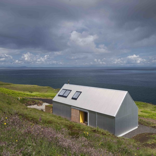 Though not made of stone or brick like the other holiday homes, this two-person escape on Scotland's picturesque Isle of Skye, designed by Rural Design Architects was made with corrugated metal, a material that is commonly used for agricultural sheds or