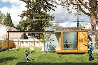 8 Tiny Sheds and Studios Used as Home Offices or Creative Retreats - Photo 6 of 8 - Portland-based architects Heidi Beebe and Doug Skidmore designed a glass-walled studio in the backyard of this house in Boise, Idaho, to act as a home office for one of the owners.