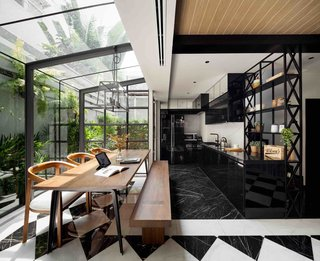 102 Potted Olive Plants Cover the Facade of This Bangkok Home - Photo 6 of 11 -