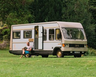6 Modern Homes on Wheels - Photo 7 of 12 - Frankfurt hospitality group Lindenberg has created a hotel room in a 1981 Mercedes camper. It's a great way to explore as much of the German countryside as you can, and a smart choice for those who want escape the crowds.