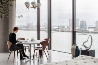 8 Best Dwell Penthouses - Photo 14 of 17 - In London's Greenwich Peninsula (a part of London's undergoing cultural facelift), boutique real estate brand Aucoot and the team behind UK magazine Cereal styled this 1,793-square-foot, three-bedroom penthouse apartment, transforming it into a simple yet stunning home.