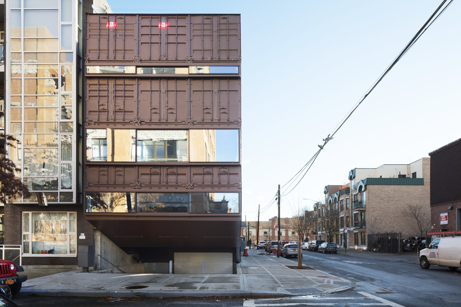 Tagged: Exterior, House, Shipping Container Building Type, and Metal Siding Material.  Photo 7 of 13 in An Amazing Home in Brooklyn Made Out of 21 Shipping Containers