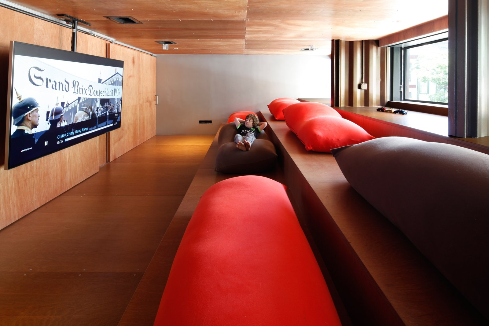 Tagged: Shed & Studio and Home Theater.  Photo 8 of 13 in An Amazing Home in Brooklyn Made Out of 21 Shipping Containers