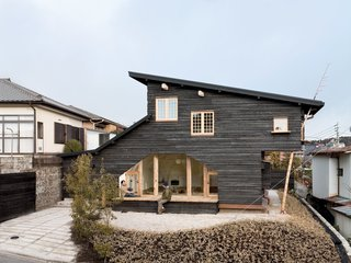 10 Striking Homes Featuring the Japanese Art of Shou Sugi Ban - Photo 14 of 15 - Another charred wood siding residence by Fujimori, the compact Coal House has a tearoom on the second story that's accessible from the exterior by a timber ladder, and from the interior by a secret door in the master bedroom.