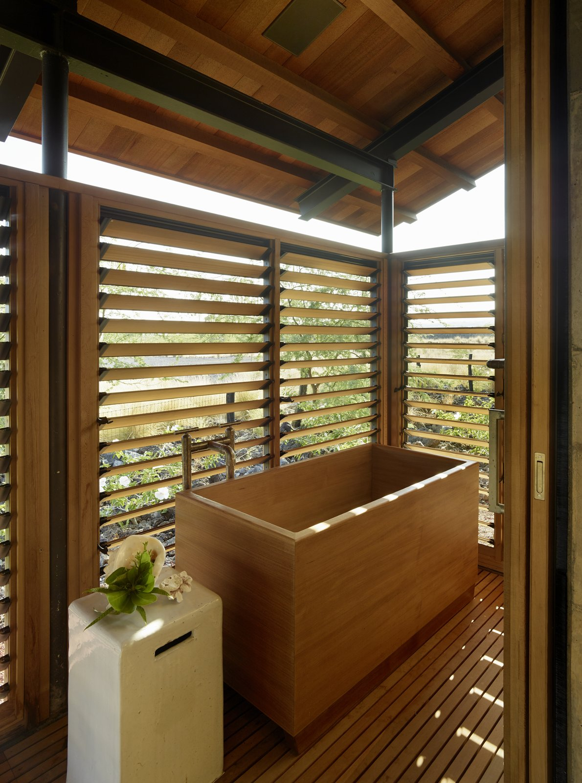 Tagged: Bath Room and Freestanding Tub.  Photo 14 of 20 in An Incredible Home in Hawaii That's As Much Fun As Summer Camp