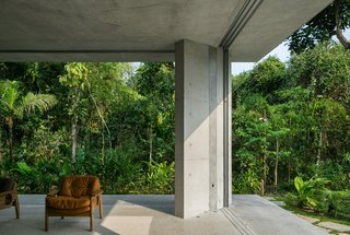 A Concrete Home in Brazil Lets the Owners Practically Live in the Jungle - Photo 2 of 12 -
