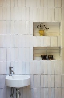 8 Bathroom Storage Hacks You Probably Haven't Tried Yet - Photo 6 of 8 - If you don't want to have cabinetry installed, or built-in shelves on your bathroom walls, one good idea is to create recessed walls for storage. This will help conserve floor space, and you can even create a recessed wall in corners.