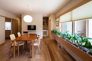 A Super-Insulated Home in Japan Brings Comfort to an Elderly Couple - Photo 12 of 14 - The dining table is from Berkshire wood products, and the dining chairs are from AllModern.