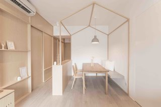 10 Zen Homes That Champion Japanese Design - Photo 9 of 20 - For this 780-square-foot apartment Hong Kong apartment, local practice MNB Design Studio used plywood, smart storage solutions, and tapped into the principles of origami to create a highly structured, minimalist home.