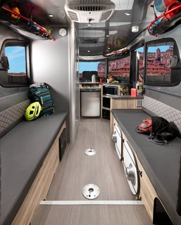 airstream 39 s basecamp is a lightweight trailer stuffed with smart travel solutions dwell. Black Bedroom Furniture Sets. Home Design Ideas