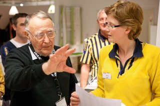 How IKEA Founder Ingvar Kamprad Built an Empire Out of Swedish Resourcefulness - Photo 4 of 14 - In 2013, at the age of 87, Kamprad stepped down from the company's board but continued to serve as the senior advisor, sharing his knowledge and experience with the IKEA team.