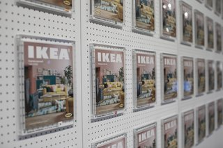 How IKEA Founder Ingvar Kamprad Built an Empire Out of Swedish Resourcefulness - Photo 9 of 14 - The IKEA Museum in Älmhult allows guests to put themselves on the cover of a catalogue.