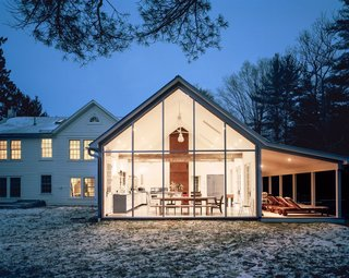 "8 Glass Houses You Can Rent Right Now - Photo 3 of 8 - ""Floating Farmhouse"" in Eldred New York is a modern five-room holiday rental home with a touch of old world charm."