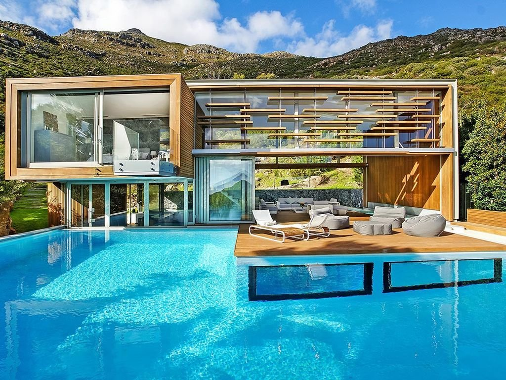 A pool villa near Cape Town in South Africa.