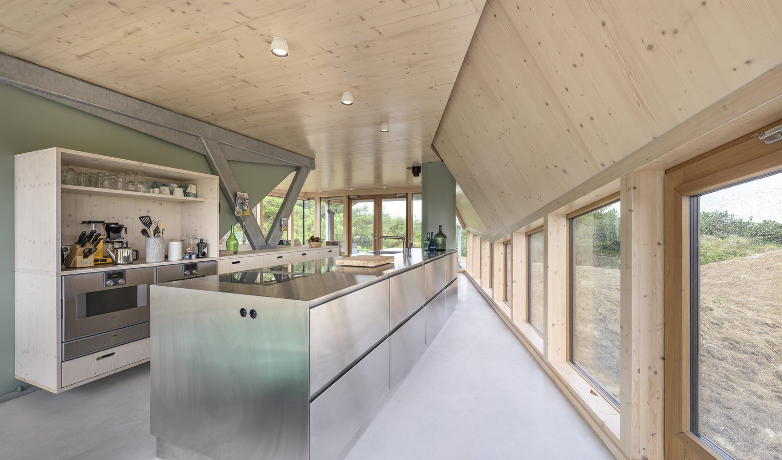 The open plan kitchen on the ground floor.