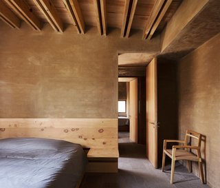 Five Cubist Hideaways Peek Out From a Mexican Pine Forest - Photo 15 of 17 - A built-in nightstand in the bedroom