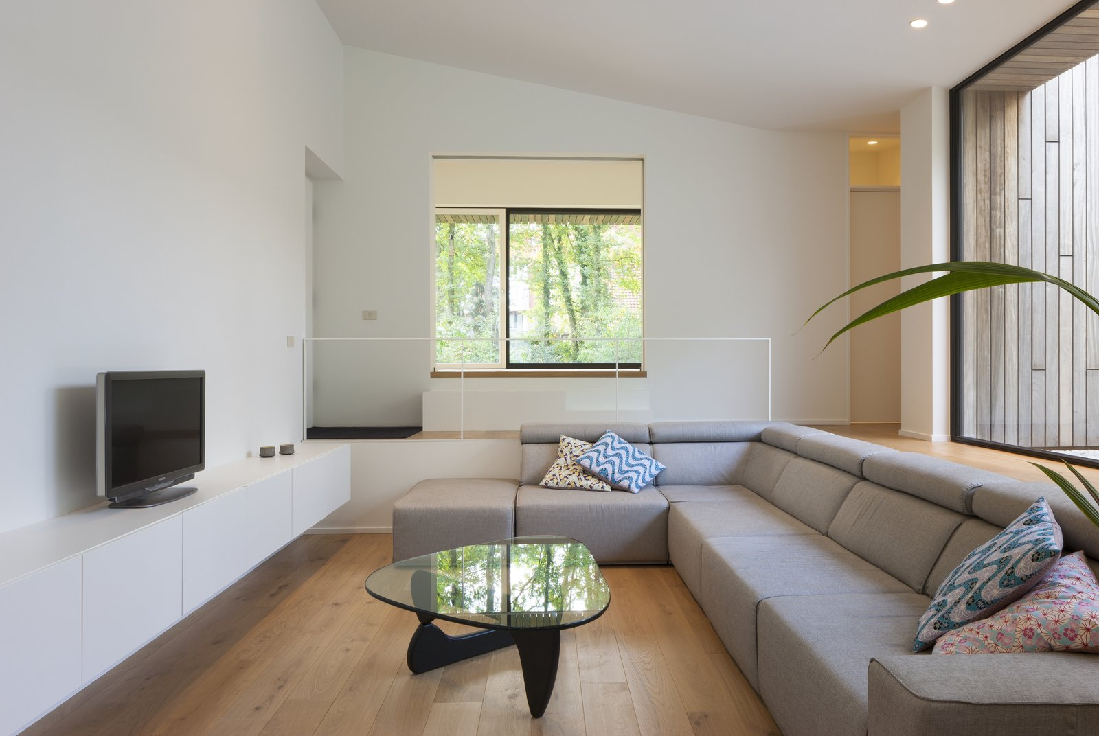 A Noguchi coffee table in the living lounge.