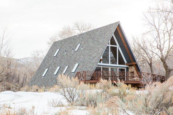 A-Frame Haus in Herber City, Utah.