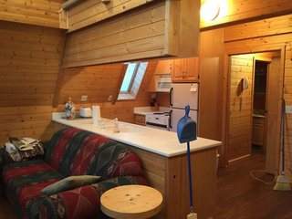 Before and After: An A-Frame Cabin Boasts Serious Scandinavian Vibes - Photo 3 of 14 - Before: the kitchen