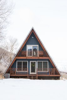 Before and After: An A-Frame Cabin Boasts Serious Scandinavian Vibes - Photo 4 of 14 - A-Frame Haus in Heber City, Utah