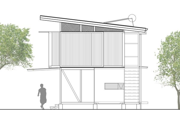 Cross section of Franceschi Container Houses