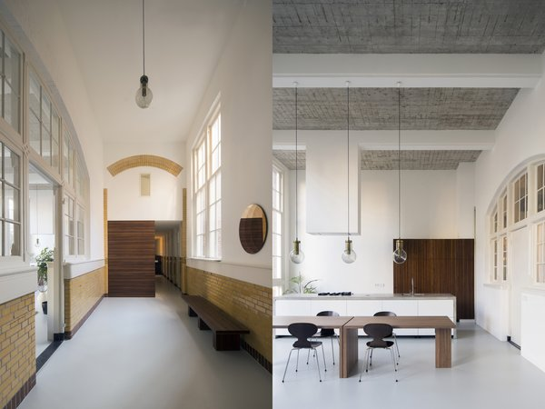 An old school in Rotterdam than was converted into residential apartments.