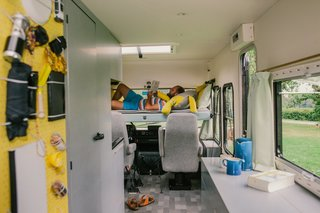 10 Cool Trailers and Campervans You Can Rent For Your Next Adventure - Photo 10 of 10 - At Lente, travelers can stay at a four-speed hotel room inside a 1981 Mercedes camper in Frankfurt, Germany.