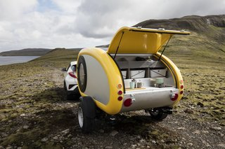10 Cool Trailers and Campervans You Can Rent For Your Next Adventure - Photo 5 of 10 - With the fully functional, towable campers from Icelandic company Mink, there's no doubt you'll have an unforgettable journey.