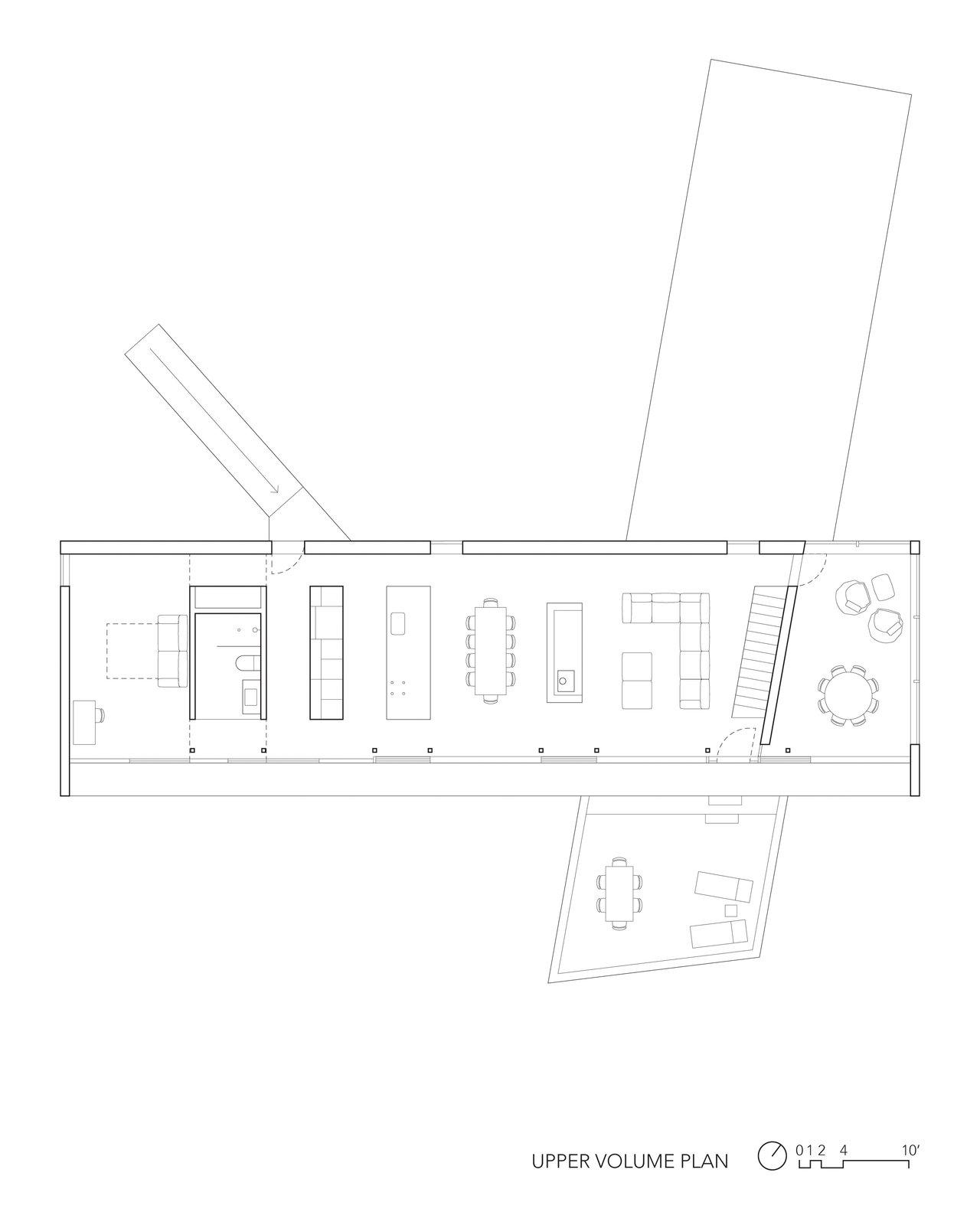 Floorplan for the upper volume.