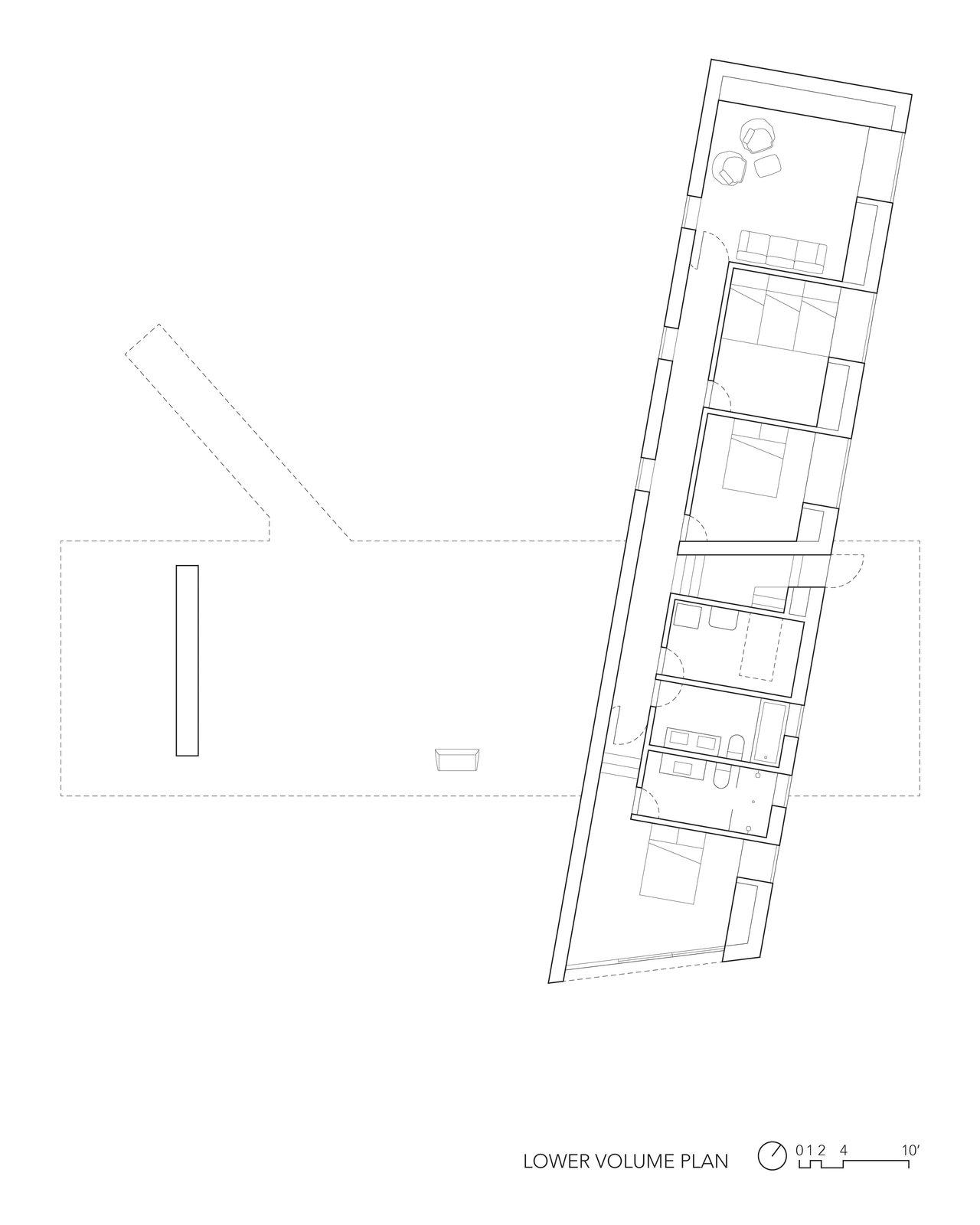 Floorplan for the lower volume.