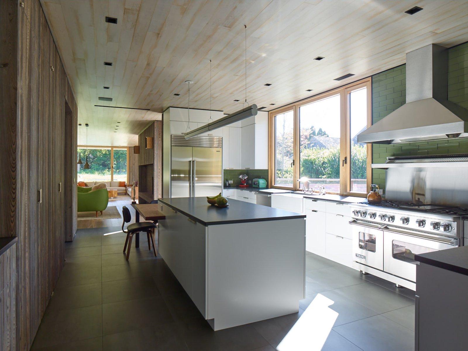 A bright and elegant kitchen.