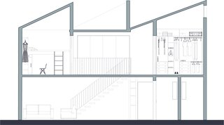 Before and After: A Cramped Home in Mexico Gets a Drastic Makeover on a Tight Budget - Photo 18 of 18 - A cross sectional drawing of the new, two-level house