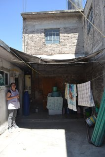 Before and After: A Cramped Home in Mexico Gets a Drastic Makeover on a Tight Budget - Photo 3 of 18 - The courtyard of the Mexican family home before the renovation.