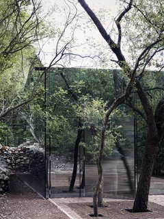 A Mirrored Mexican Home Hides Among a Lush Forest - Photo 4 of 15 - The natural landscape becomes part of the architecture of Los Terrenos.