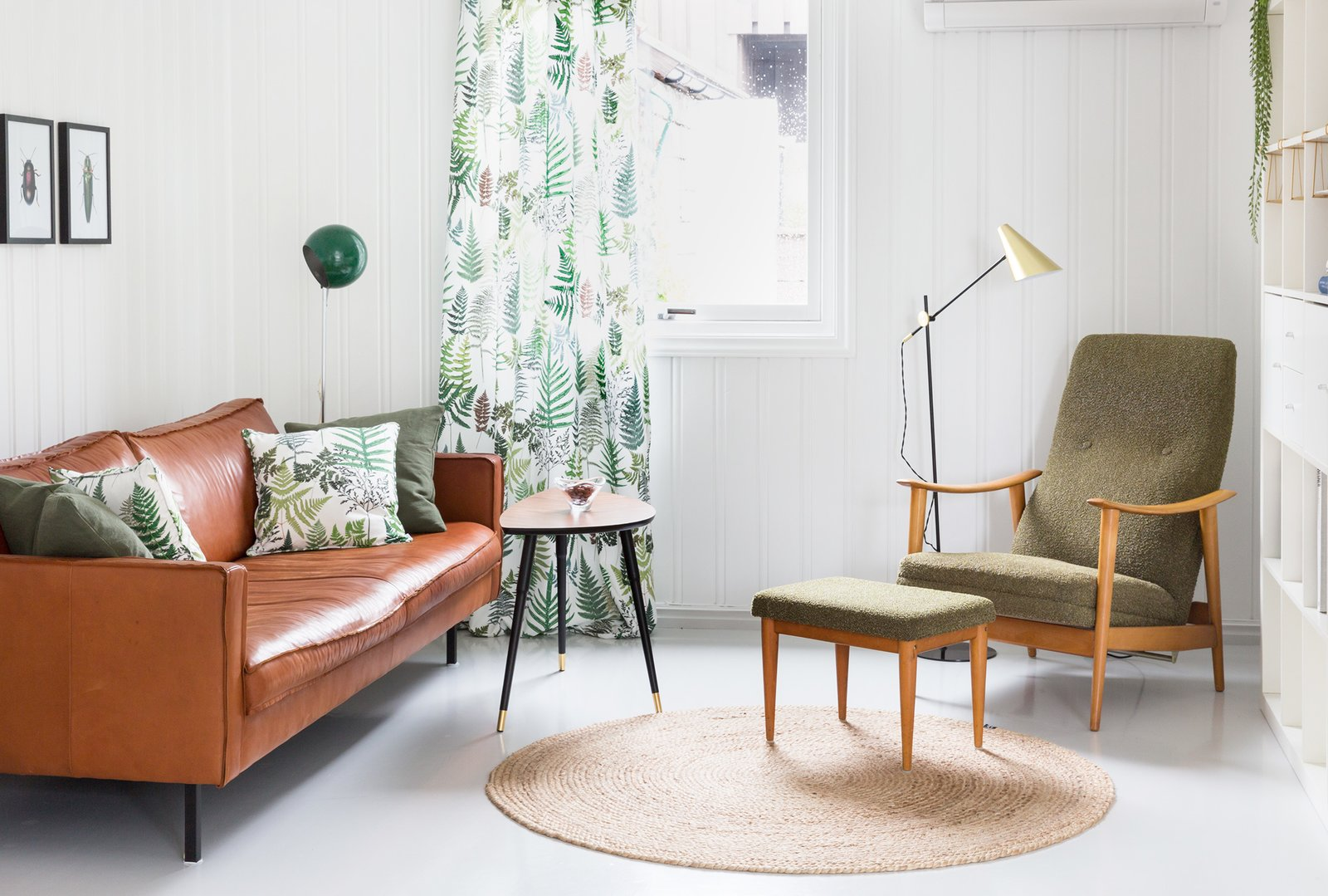 Midcentury furniture, and thoughtful accents make this holiday rental a truly delightful way to enjoy Norway's Vestfold County.